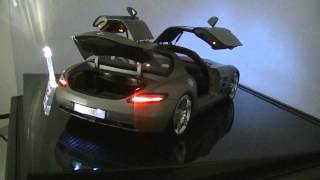 getlinkyoutube.com-1:12 Mercedes-Benz SLS AMG High End Modell / LED Umbau Xenon