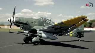 getlinkyoutube.com-New Airfield 1400mm Stuka scale German War Plane Preview