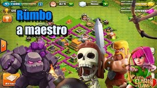 getlinkyoutube.com-Ejército especial para subir a Maestro | Road to Maestro | Clash of clans |