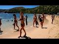 Beautiful Hanauma Bay Beach, Walking with HD Wide Angle Camera, Island of Oahu, Honolulu, Hawaii