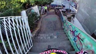 flushyoutube.com-Insane Urban DH Mountain Bike POV - Red Bull Valparaiso Cerro Abajo 2015