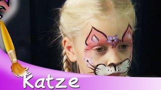 Kinderschminken Katze Gesicht Tutorial || HD