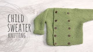 Tutorial Knitting Child Sweater
