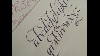 getlinkyoutube.com-how to write calligraphy letters - easy version for beginners