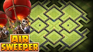 getlinkyoutube.com-Clash of Clans - *NEW* Air Sweeper! BEST Townhall 10 (TH10) Farming BASE! -New Update Air Sweeper -