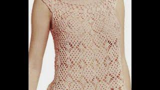 getlinkyoutube.com-GRÁFICOS para tejer blusa rosa a crochet NO ES TUTORIAL