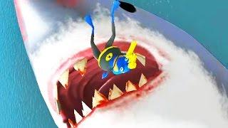 getlinkyoutube.com-BAT FROG VS GIANT SHARK - Amazing Frog - Part 58 | Pungence
