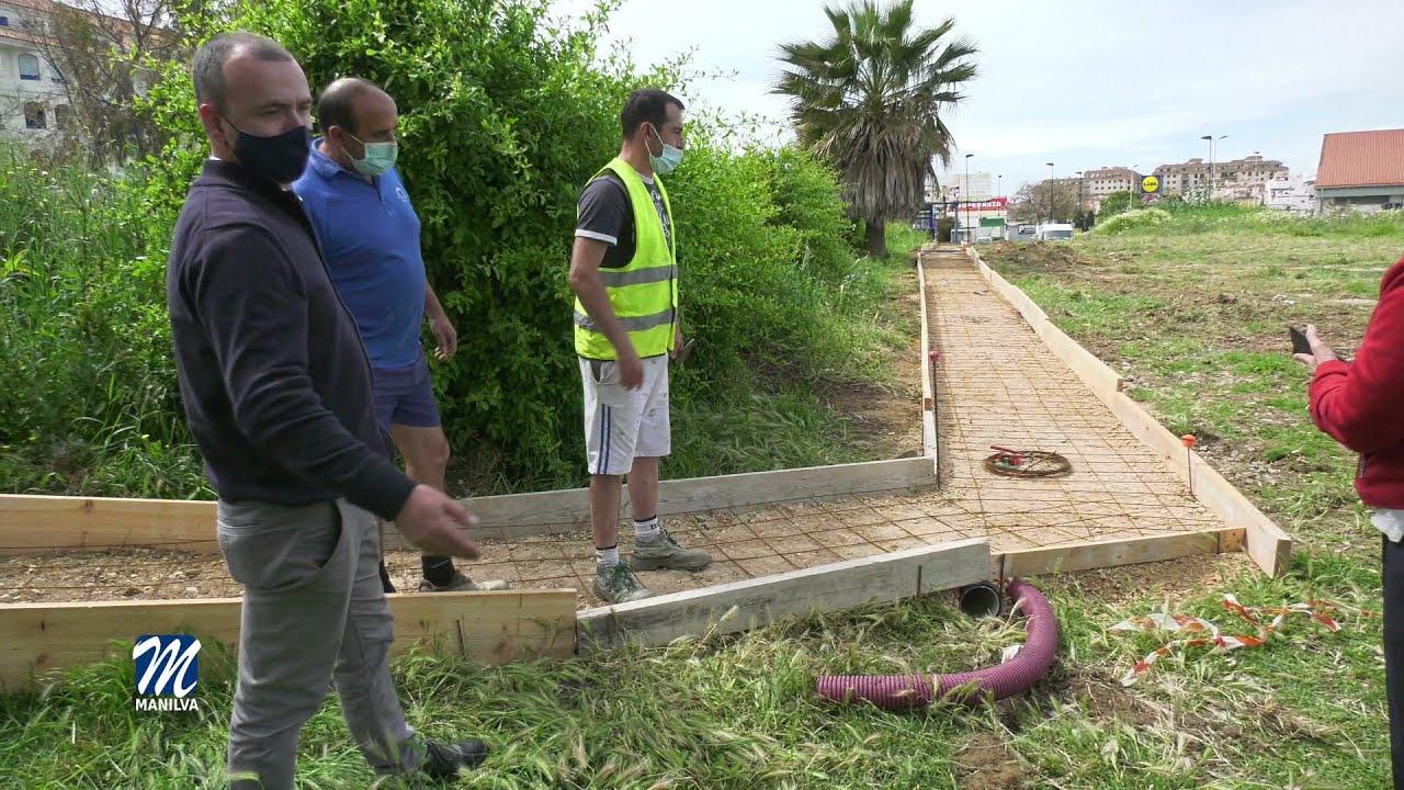Infraestructura actúa en la vía peatonal de unión entre Manilva y Casares