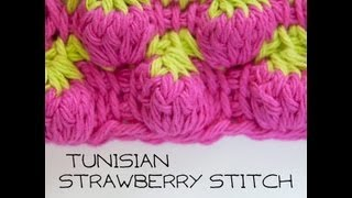 getlinkyoutube.com-How to Crochet: Tunisian Strawberry Stitch