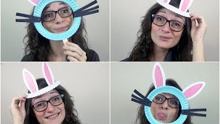 getlinkyoutube.com-TUTORIAL: 2 MASCHERE da CONIGLIETTO di Pasqua (-rIcIcLo-DiY-)