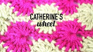 Ruedas (Catherine's Wheel) a Crochet | How to crochet the Catherine's wheel stitch
