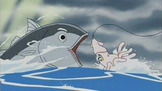 getlinkyoutube.com-【vore アニメ】イカに仮装して巨大魚の餌となって丸呑み [ Fish vore animation ]