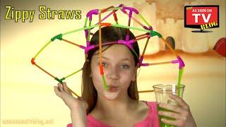 getlinkyoutube.com-Zippy Straws As Seen On TV Commercial Buy Zippy Straws As Seen On TV Drinking Straw Building Toy