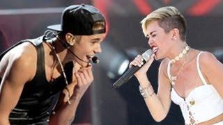 getlinkyoutube.com-Justin Bieber Vs. Miley Cyrus Dance Battle -- Concert Performances