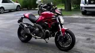 2015 Ducati Monster 821 Red Stripe at Euro Cycles of Tampa Bay