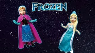 getlinkyoutube.com-Frozen toys videos for children Elsa and Anna in SPACE!