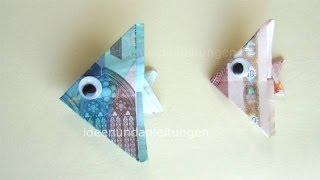 getlinkyoutube.com-Geldscheine falten Fisch - Geldgeschenke basteln -  Geld falten Ideen