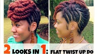 getlinkyoutube.com-Naturally Michy | Flat Twist Updo Hairstyles