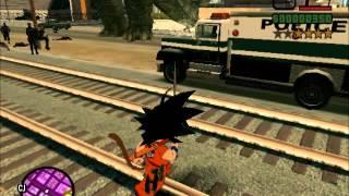 getlinkyoutube.com-Goku And Genkidama VS Cops - GTA SA DBZ Mod
