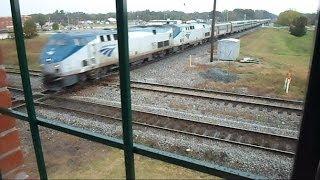 getlinkyoutube.com-Amtrak And CSX Trains Near Collisions At The Diamond