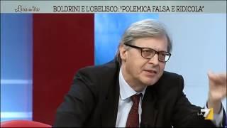 getlinkyoutube.com-Vittorio Sgarbi: 'Boldrini torni a scuola e non faccia la capra'