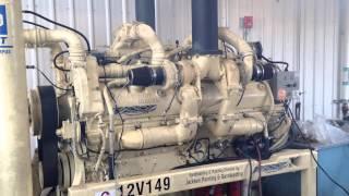 getlinkyoutube.com-Detroit Diesel 12V149 Starting & Running