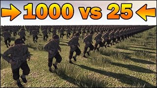 1000 INFANTRY vs 25 SNIPERS - MISSION IMPOSSIBLE - Men of War Assault Squad 2 - Editor Scenario #83