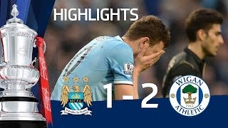 getlinkyoutube.com-MANCHESTER CITY VS WIGAN ATHLETIC 1-2: Official goals and highlights FA Cup Sixth Round HD