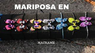 getlinkyoutube.com-pulsera de mariposa con hilo encerado | TUTORIAL MACRAME  BUTTERFLY
