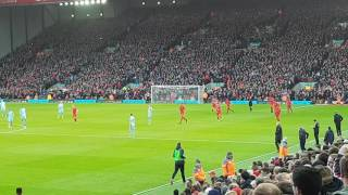 Celebrating Emre Can's winning goal vs Burnley at Anfield 12/03/2017