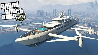 getlinkyoutube.com-GTA 5 Mods - FLYING SHIP