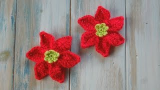 getlinkyoutube.com-(crochet) How To Crochet a Mini Poinsettia - Yarn Scrap Friday