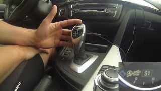 getlinkyoutube.com-BMW Sport automatic 8 speed transmission joystick shifter