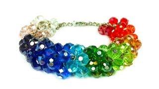 getlinkyoutube.com-DIY: Rainbow easy bracelet / Радужный легкий браслет своими руками