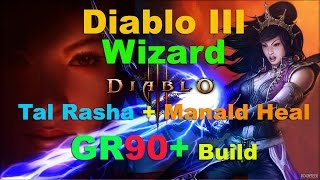 getlinkyoutube.com-Diablo III: Tal Rasha Manald Heal GR90+ (NO Archon) Wizard Build