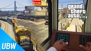 getlinkyoutube.com-GTA 5 기차를 운전할 수 있는 모드 - GTA 5 Mod Showcase: Enhanced Train Driver Mod