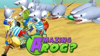 getlinkyoutube.com-SHARKS EVERYWHERE! #SHARKWEEK - Amazing Frog - Part 52 | Pungence