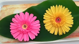 getlinkyoutube.com-DIY Paper Crafts : How to Make Beautiful Daisy Paper Flowers Tutorial for Home Decoration