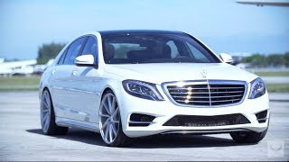 "getlinkyoutube.com-2014 Mercedes-Benz S550 on 22"" Vossen CVT   Executive Package (W222)"