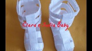 getlinkyoutube.com-Sandalia Gladiadora feita a mão para bebês.