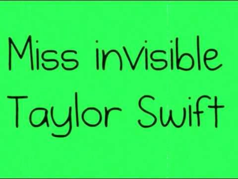 Miss Invisible - Marie Digby (ORIGINAL SONG) with Lyrics