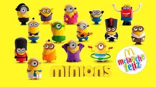 getlinkyoutube.com-Minions 2015 Coleção Completa McDonald's 15 Brinquedos McLanche Feliz