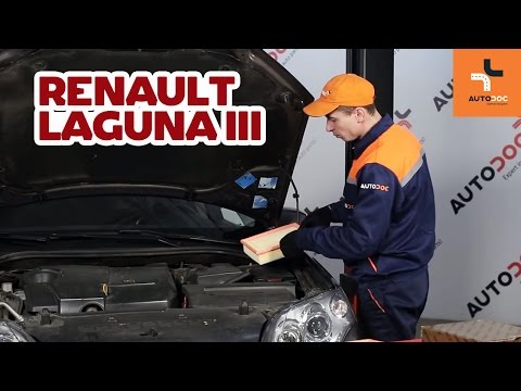 How to replace air filter on RENAULT LAGUNA 3 TUTORIAL | AUTODOC