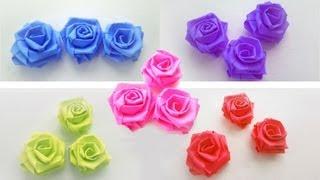 getlinkyoutube.com-Episodio 639 - Cómo hacer rosas pequeñas con tiras de papel - manualidadesconninos