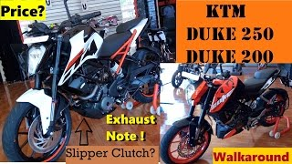 getlinkyoutube.com-KTM Duke 250 & 2017 Duke 200 | Walkaround | Exhaust Note | Changes Explained