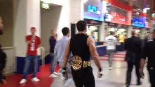 getlinkyoutube.com-THE SHIELD BEFORE ENTRANCE MANCHESTER WWE RAW 11/11/2013 DEAN AMBROSE WINK