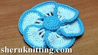 getlinkyoutube.com-Crochet Flower Crochet Button Center Tutorial 40 Crochet Kwiat