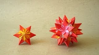 getlinkyoutube.com-Origami Instructions: Sparaxis Star and Kusudama (Ekaterina Lukasheva)