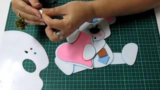getlinkyoutube.com-DIY Osito Romantico en Fomi, Goma Eva, Microporoso, Easy Crafts