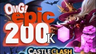 getlinkyoutube.com-Rolling 200k Gems for Trixie Treat Part 2 of 3(Castle Clash)